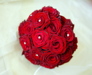 red rose bridial hand tie