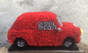 floral tibute red mini