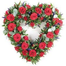 open loose mixed rose heart