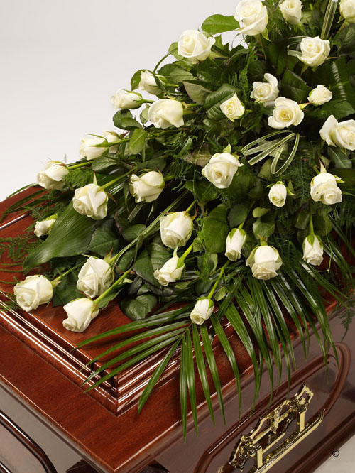 Rose And Foliage Casket Spray