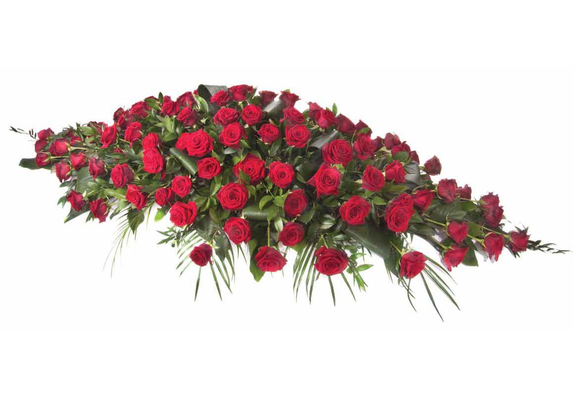 Rose and foliage casket spray red roses casket spray izmirmasajfo