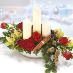 Scottish Themed Christmas Candle Arrangement