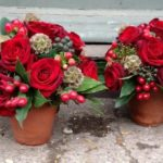 Christmas Arrangement- Red Rose