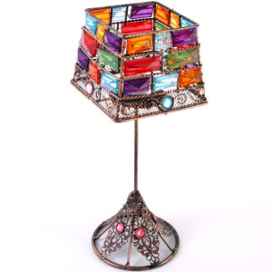 bejewelled candle holder lamp