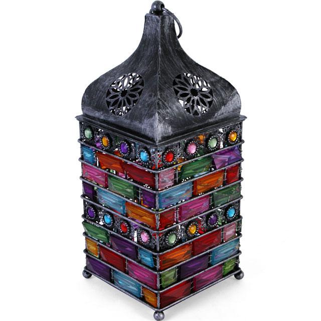 large silver jewellwd lantern