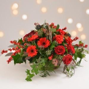 festive sparkle basket arrangement
