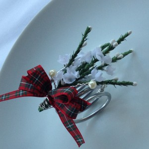 Scottish napkin holder