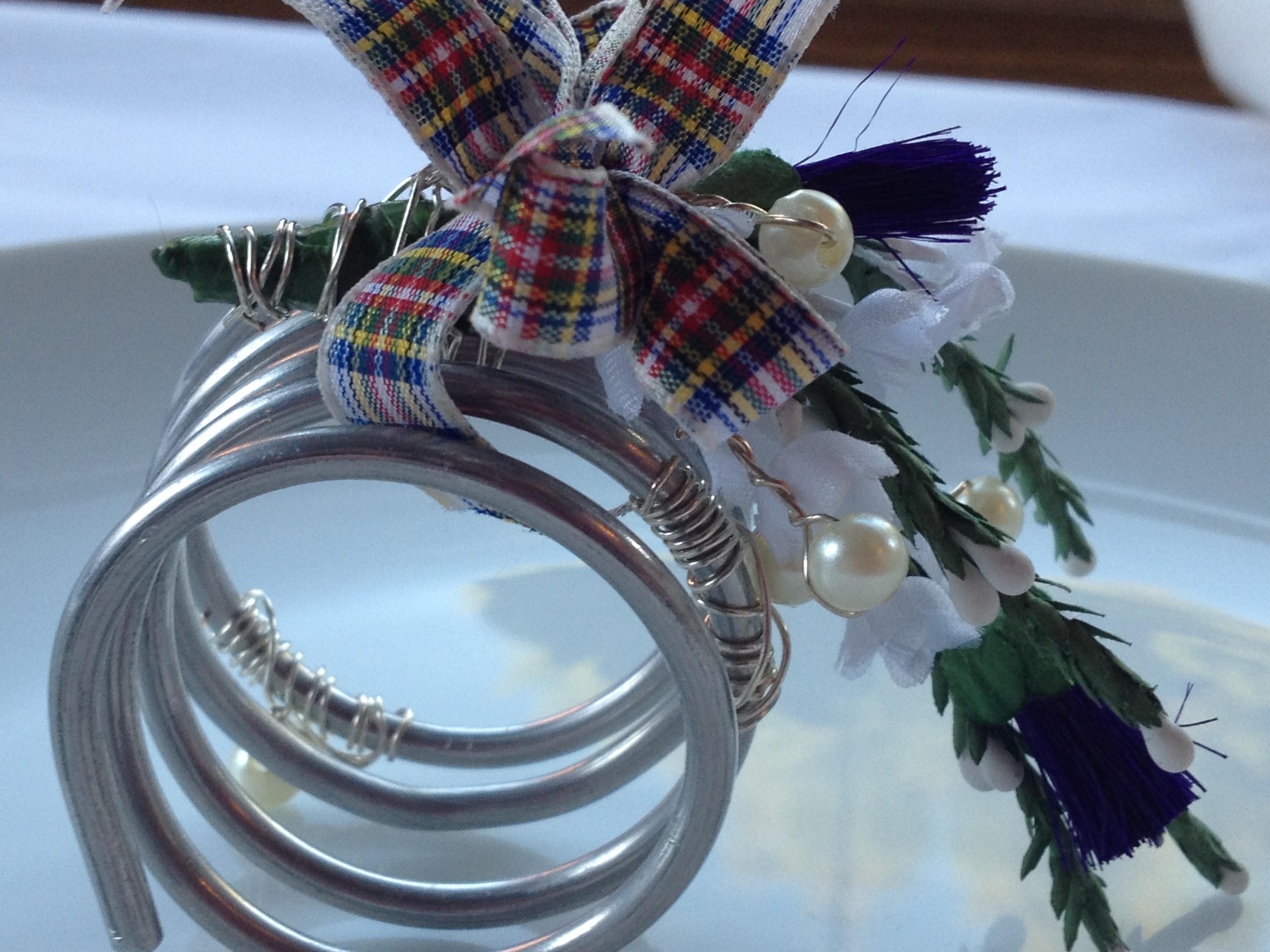 Scottish napkin holder/ stewart tartan