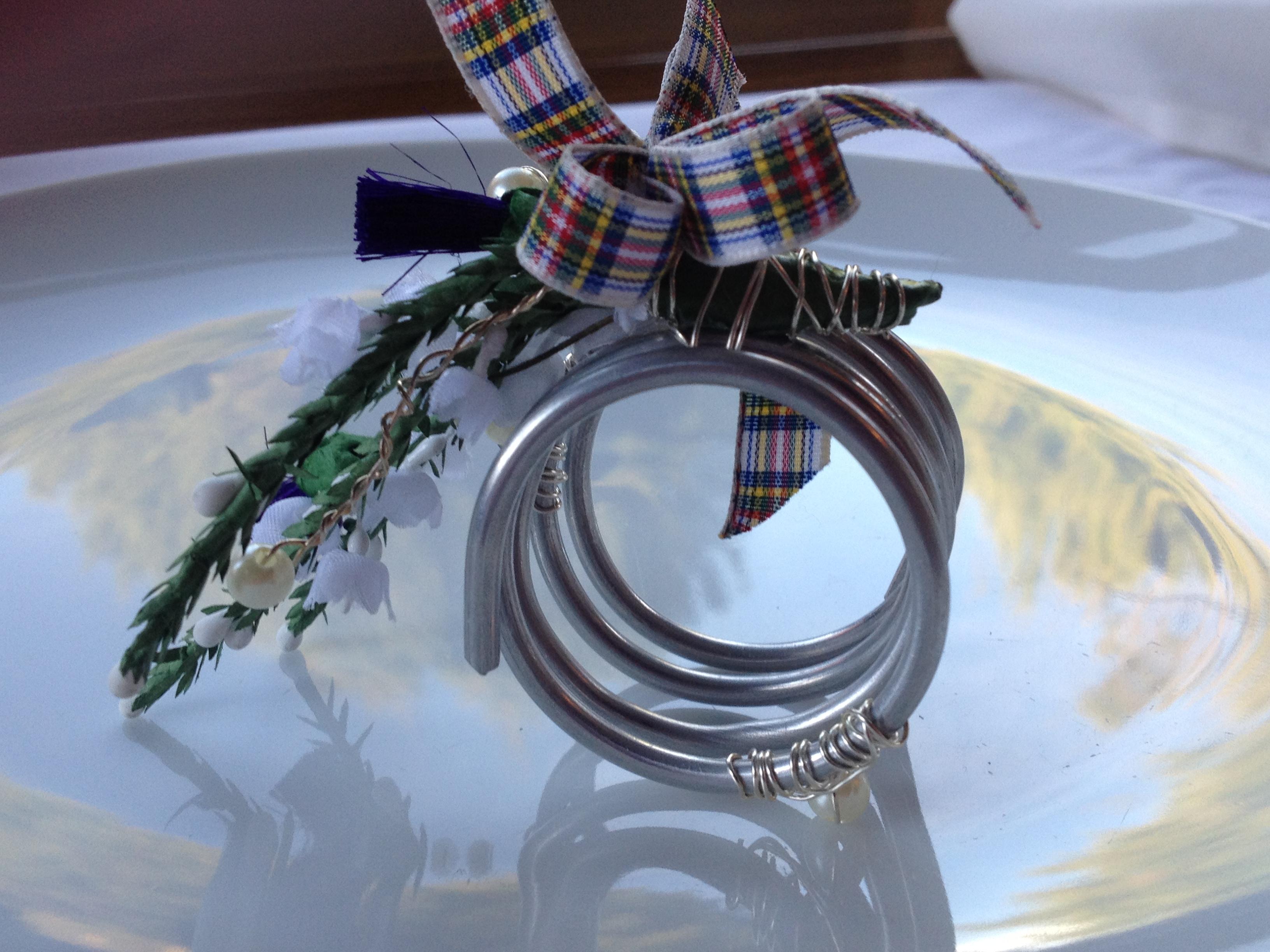 Scottish napkin holder