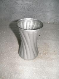 ribbed vase silver