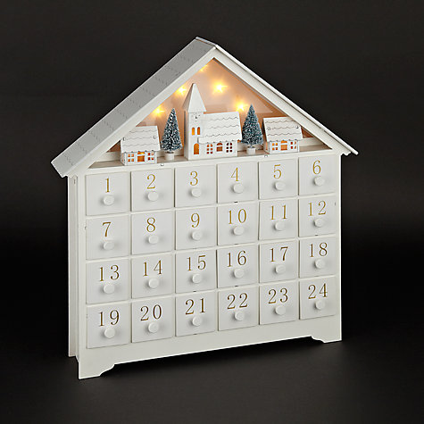 wooden xmas scene advent light up