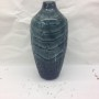 teal abstract vase