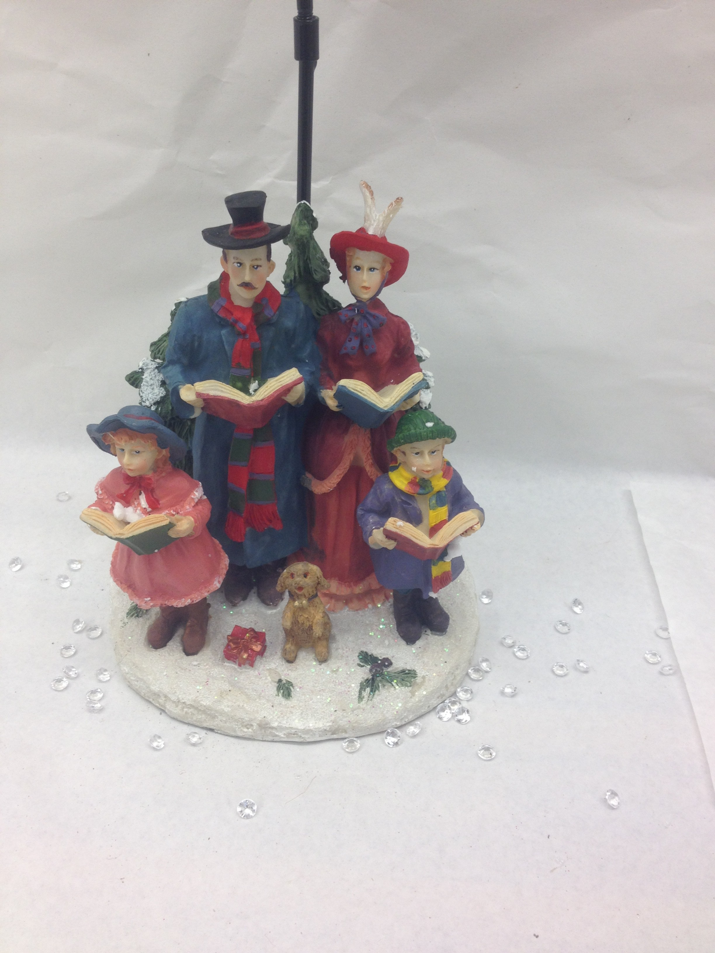 Resin Carol scene with street tealight holder