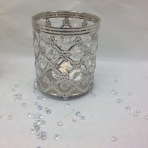 Metal jewel Tea light Holder