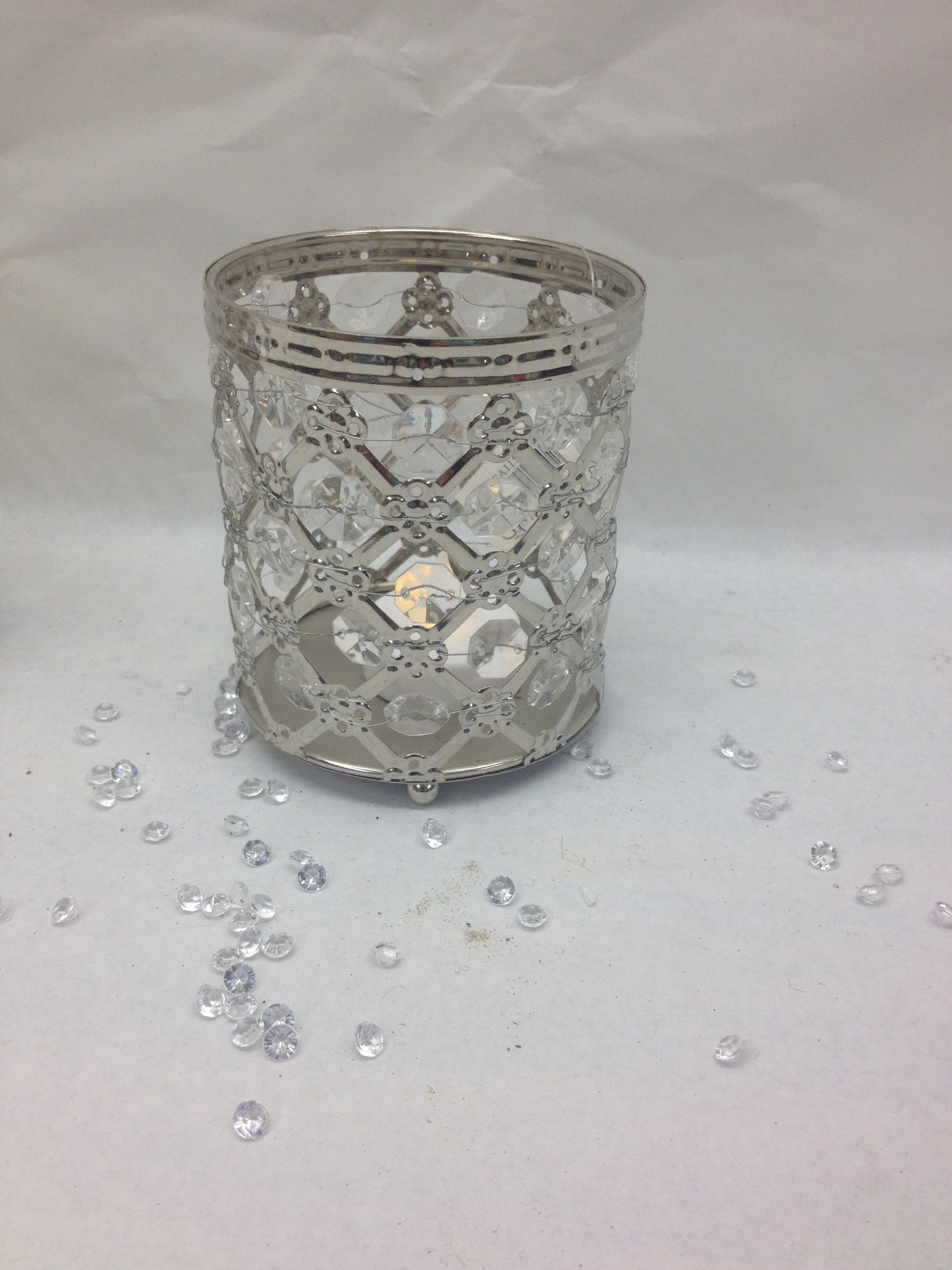 Metal jewel Tea light Holder