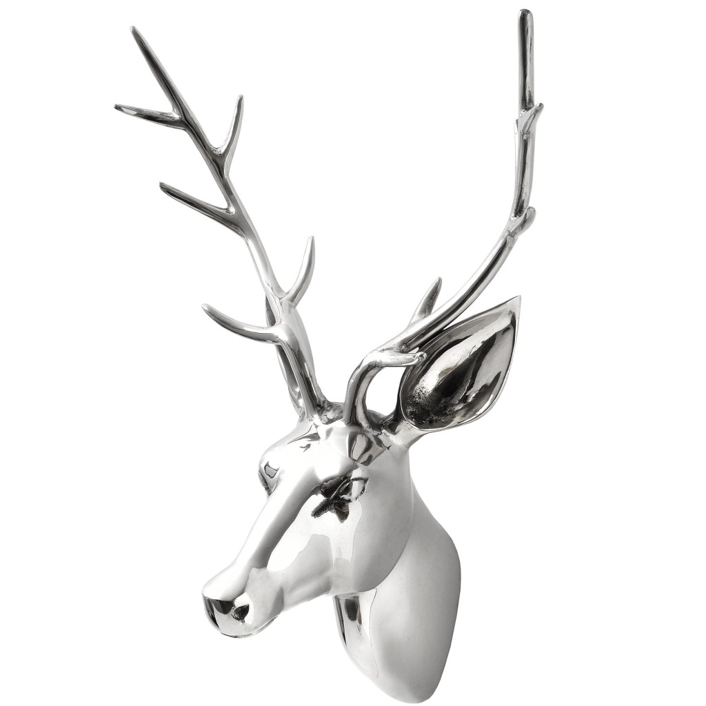 Silver Large Stag Head