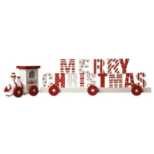 Wooden Merry Christmas Train