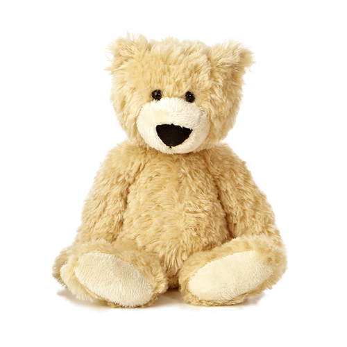 Light brown classic medium teddy bear with soft long fur by Slouchee