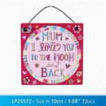 METAL LOVE YOU TO MOON AND BACK SIGN
