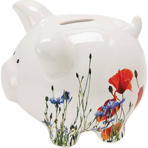 Flower Meadow Ceramic Piggy Bank