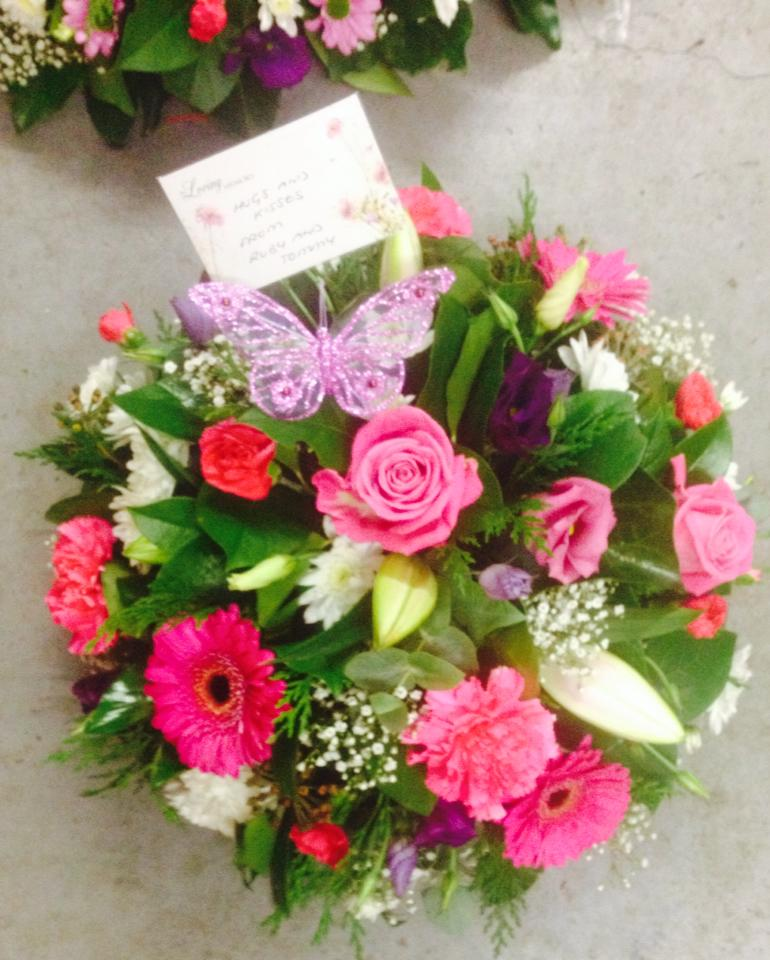 pink and purple posy
