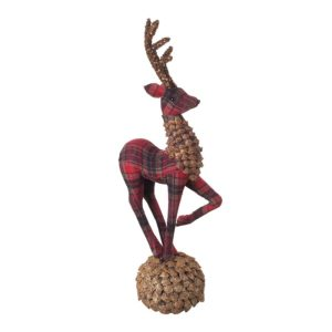 LARGE REINDEER STANDING ON BALL