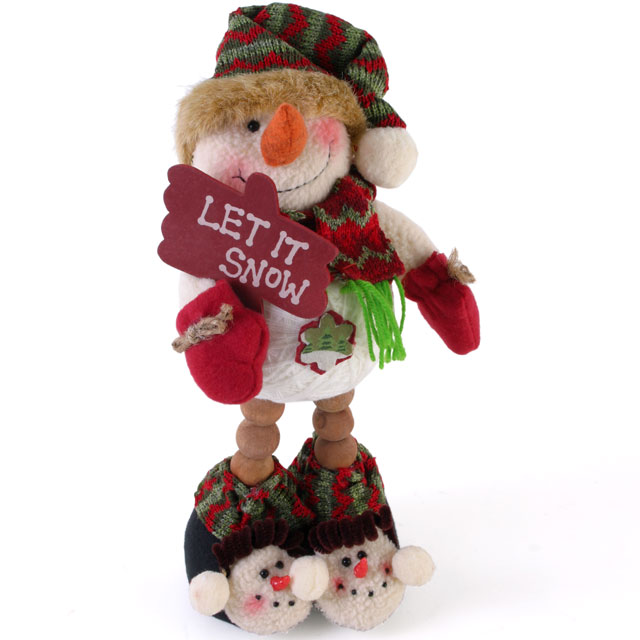 SNOWMAN HOLDING SIGN