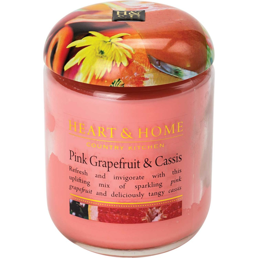 Large Pink Grapefruit & Cassis Premium Candle