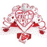3d I love you card