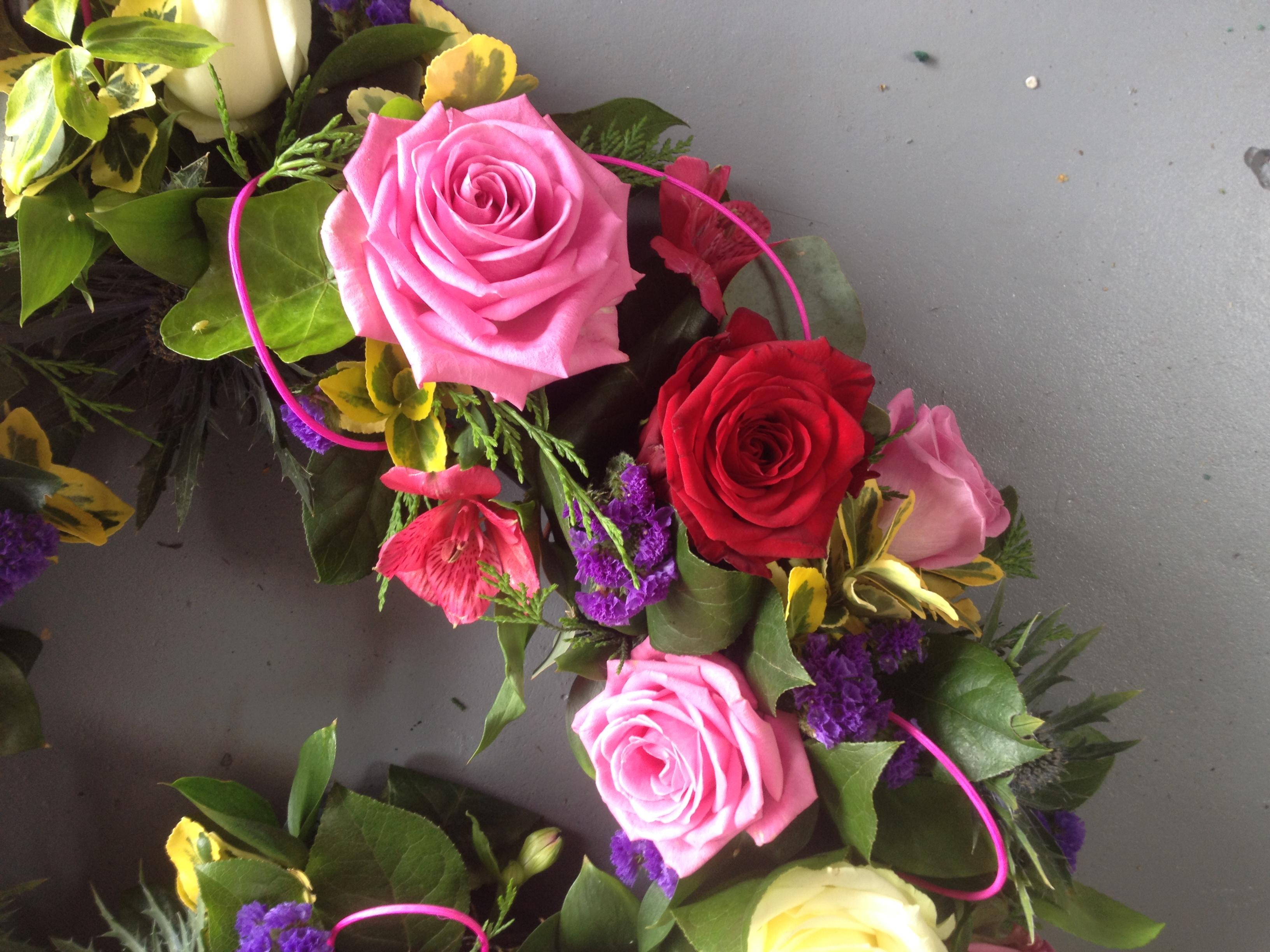 mixed rose heart