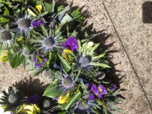 thistle and chrysanthemum open heart