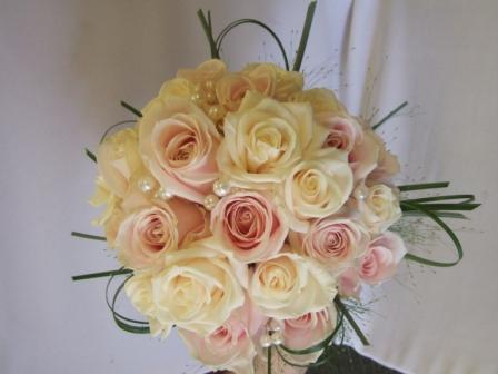 Packed pastel rose bridal Hand tie