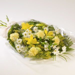 funeral flowers in cello