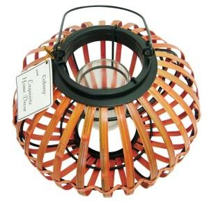 Colony Gift Corporation Hurricane Wicker Globe Tea light Holder