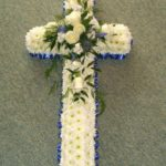 Blue and white based cross