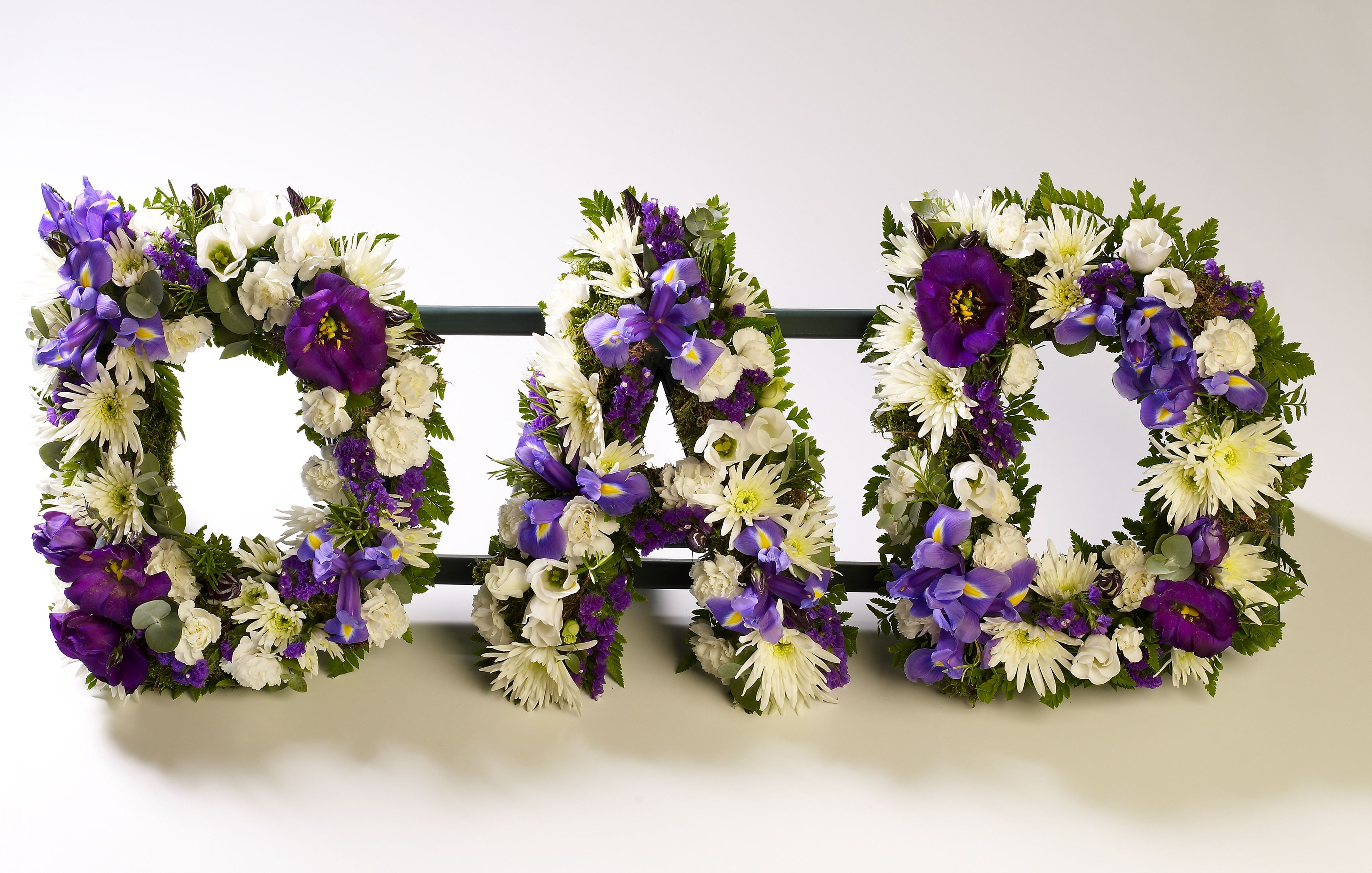Dad tribute- purple and white