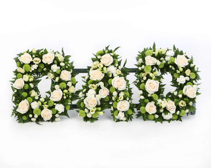 Dad tribute loose- cream and green