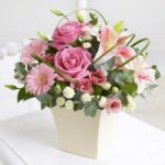 Pink ceramic arrangement £27.50