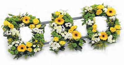 Dad tribute- yellow, white and green