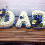 dad tribute frame in blue and lemon