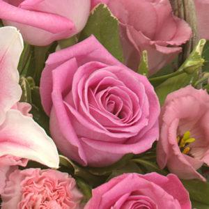 Pink ceramic arrangement £27.50