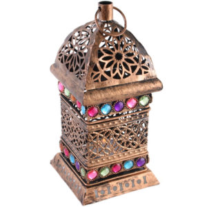 Bejeweled Medium lantern bronze