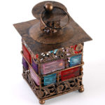 bejewelled lantern, small, bronze