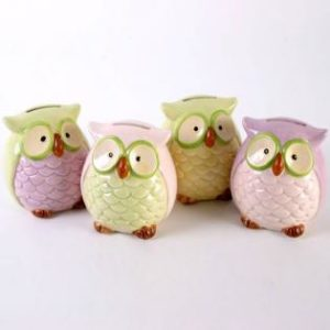 ceramic owl money bank/ Giftware