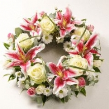 Rose and Lily Wreath from £45.00