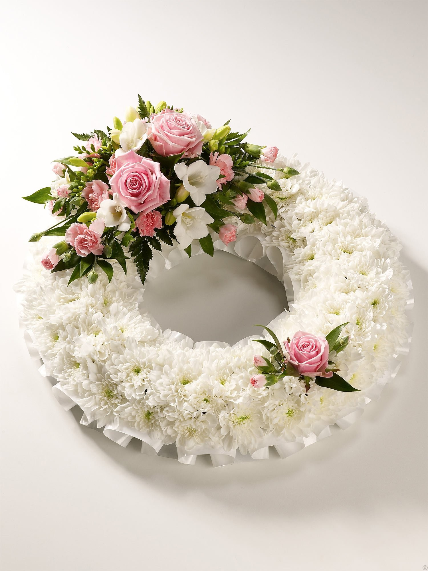 Based Wreath in pink and white