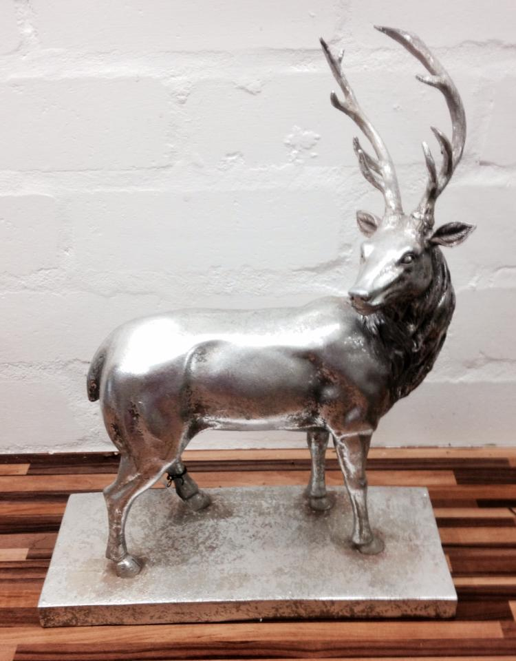 Silver Resin Stag