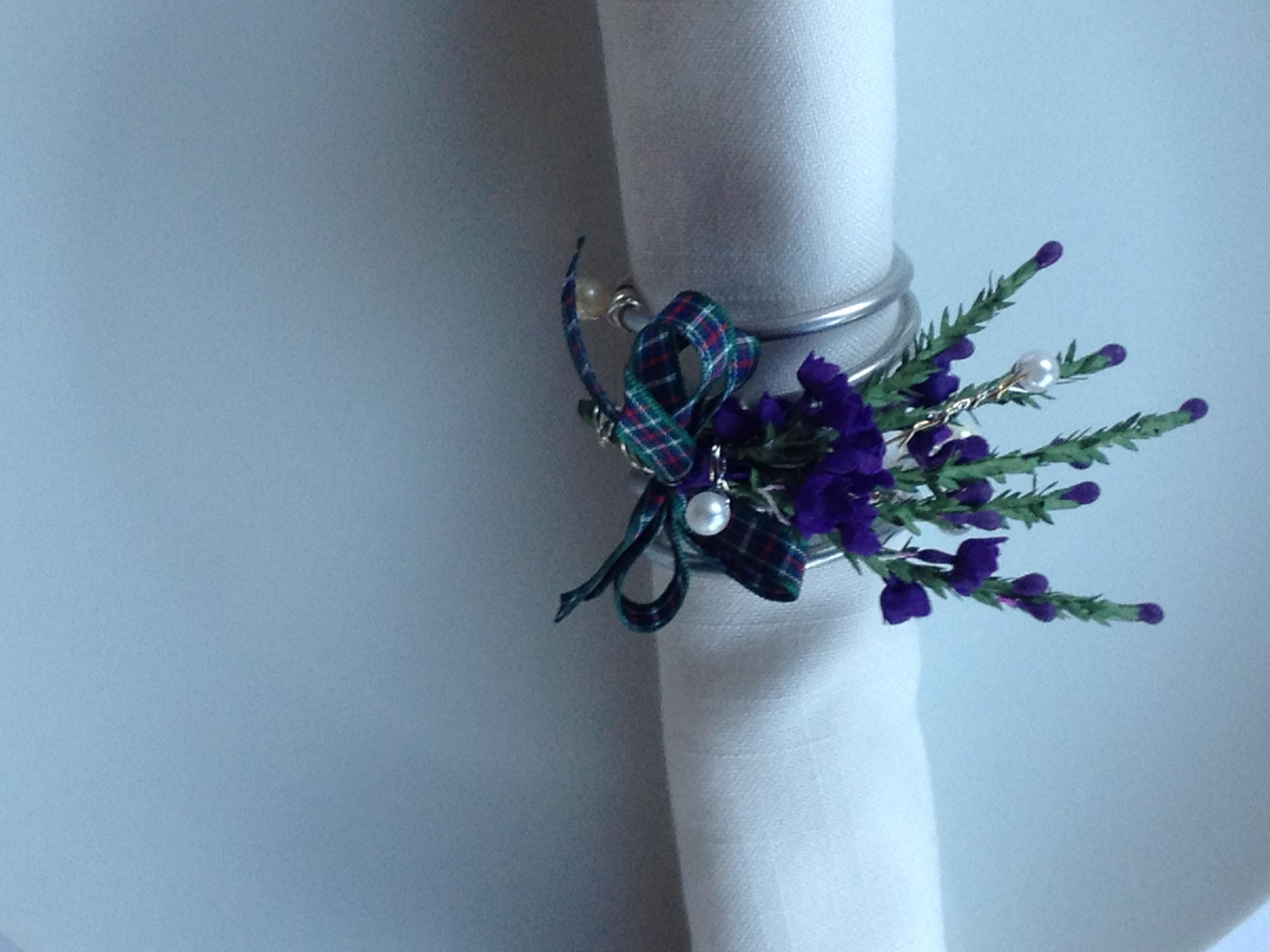 Scottish napkin holder flower of scotland tartan