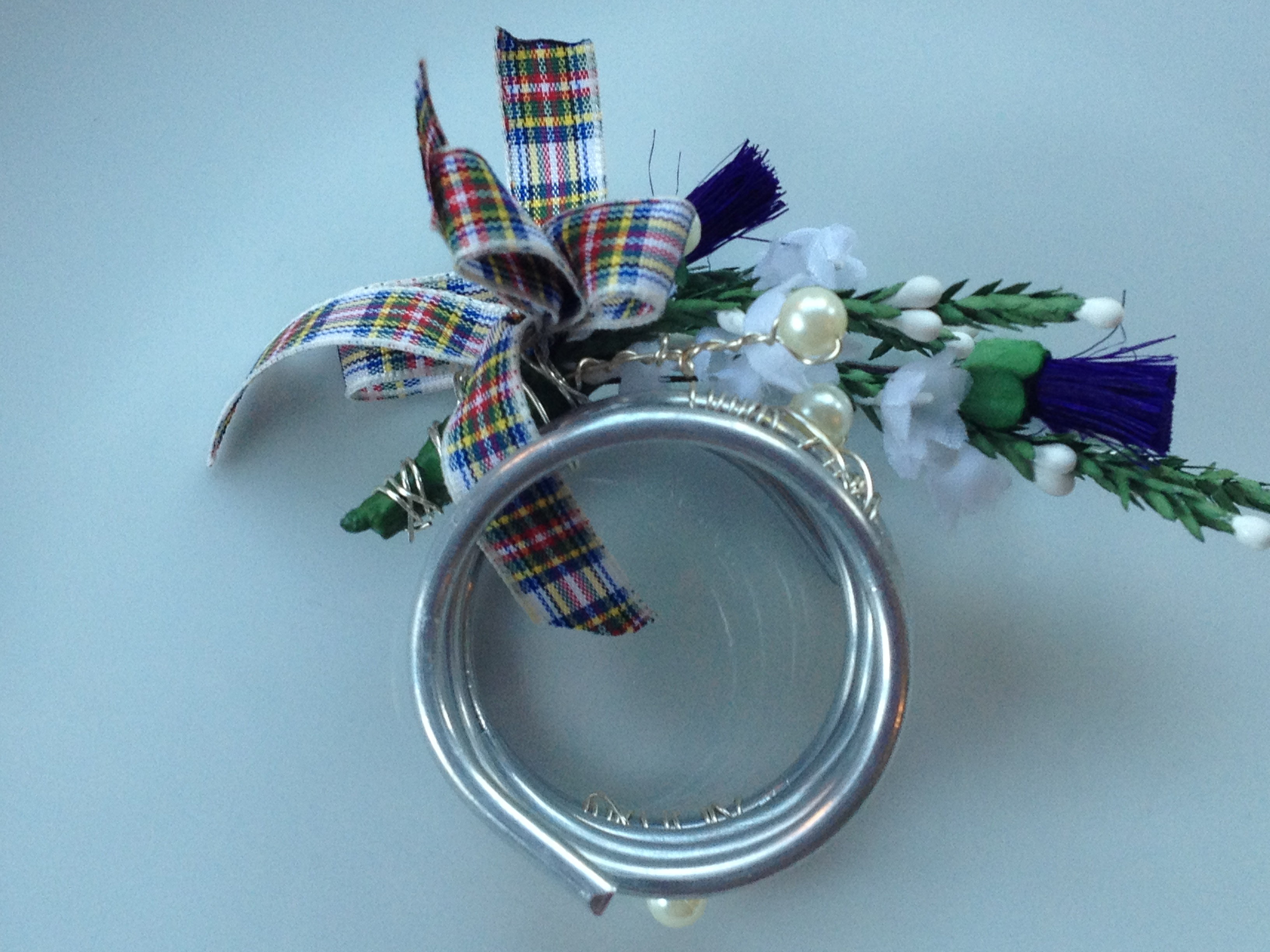 Scottish napkin holder/ stewart tartan