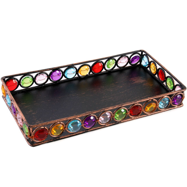 bejewelled tray